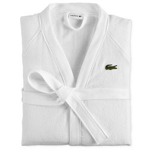 NWOT Embroidered Lacoste Bath Robe